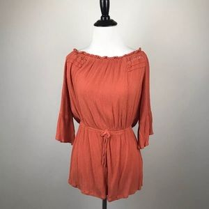 NWT Topshop Size 8 Burnt Orange Romper